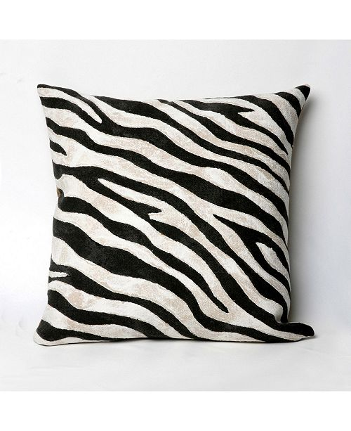 "Liora Manne Visions I Zebra Indoor, Outdoor Pillow - 20"" Square"