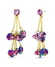 Rainbow Drop Bar Dangle Earring with Beads and Rhinestones