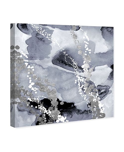 """Oliver Gal Even More Love Silver Canvas Art, 36"""" x 36"""""""