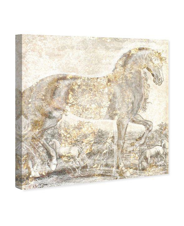 "Oliver Gal Brilliant Equestrian Canvas Art, 43"" x 43"""