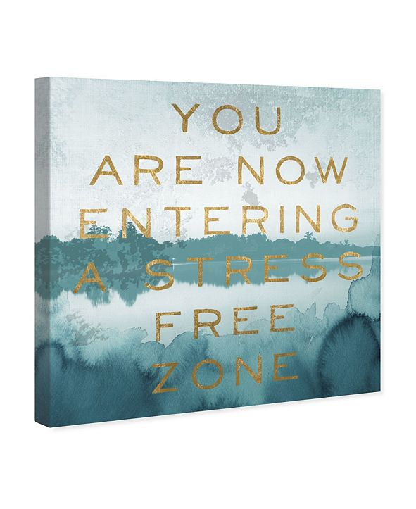 "Oliver Gal Stress Free Zone Canvas Art, 43"" x 43"""
