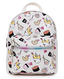 Sushi Unicorn Printed Mini Backpack