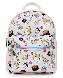 OMG! Accessories Sushi Unicorn Printed Mini Backpack