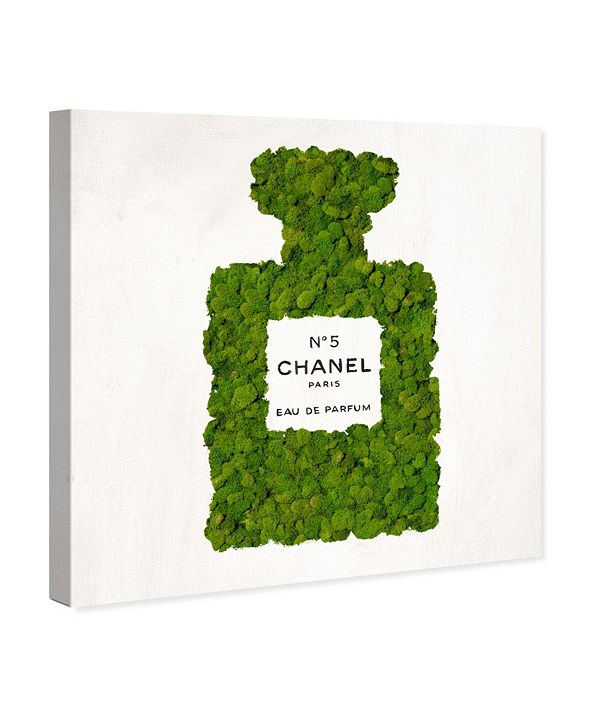 """Oliver Gal Number 5 Moss Canvas Art, 16"""" x 16"""""""