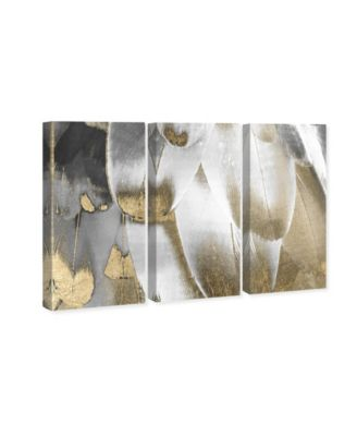 Royal Feathers Triptych Canvas Art, 17