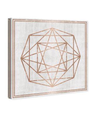 Whitewash Wood Geometric Octagon Canvas Art, 12