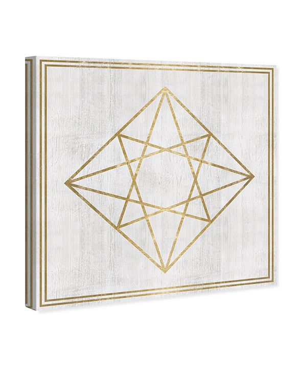 "Oliver Gal Whitewash Wood Geometric Diamond Canvas Art, 43"" x 43"""