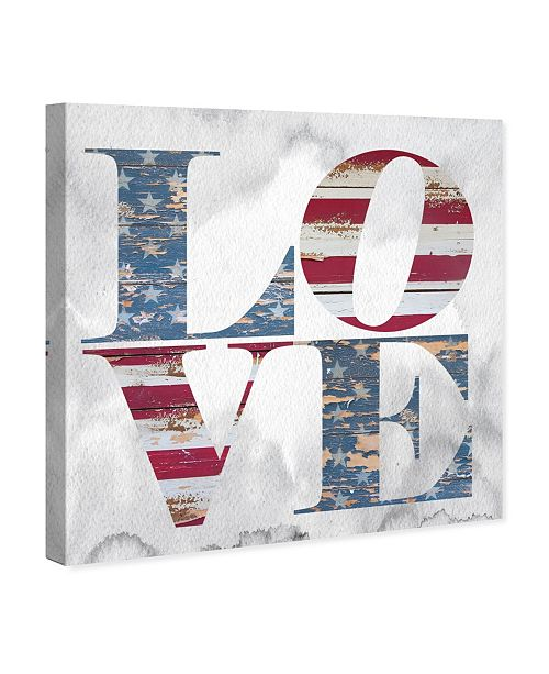 "Oliver Gal Build On Love Freedom Canvas Art, 36"" x 36"""