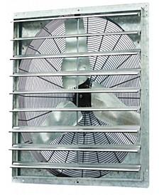 """36"""" Single Speed Shutter Exhaust Fan, Wall-Mounted"""
