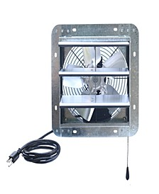 "10"" Shutter Exhaust Attic Garage Grow Fan, Ventilation Fan with 3 Speed Thermostat"