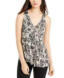 Lace-Print Top, Regular & Petite
