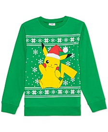 Pokémon Big Boys Pikachu Holiday Sweatshirt