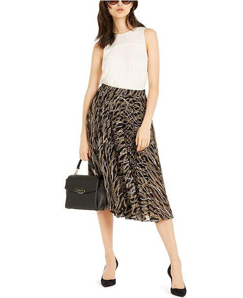 Michael Kors Sleeveless Top & Printed Skirt