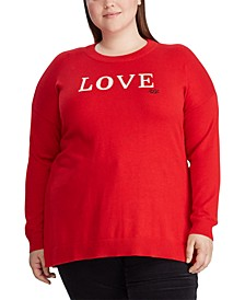 Plus Size Love Knit Cotton-Blend Sweater