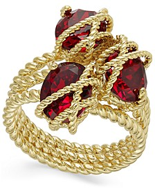 Gold-Tone Stone Cluster Triple-Wrap Ring, Created For Macy's