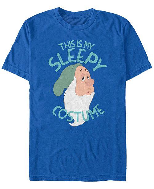 Fifth Sun Disney Men's Snow White and the Seven Dwarfs Sleepy Halloween Costume Short Sleeve T-Shirt