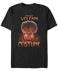 Universal Monsters Wolfman Costume Men's Short Sleeve T-shirt