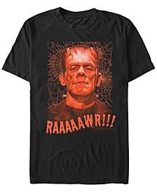 Universal Monsters Men's Rawr Frankenstein Portrait Short Sleeve T-Shirt
