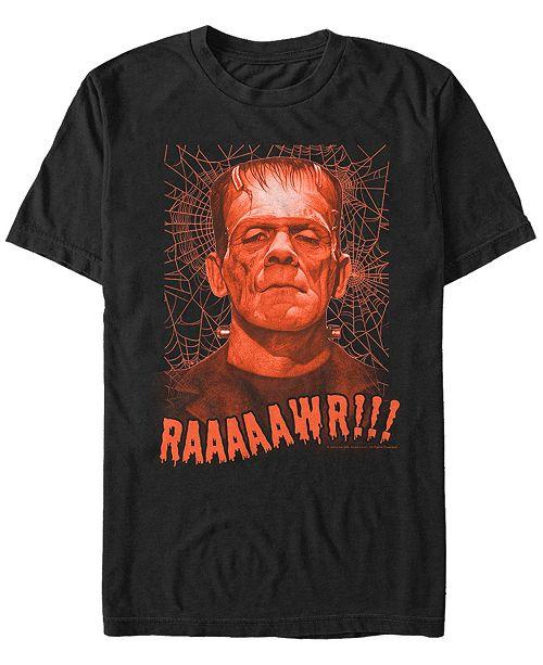 Fifth Sun Universal Monsters Men's Rawr Frankenstein Portrait Short Sleeve T-Shirt