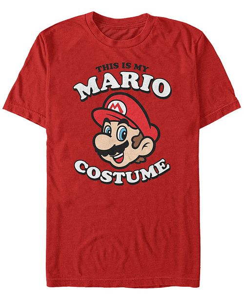 Fifth Sun Nintendo Men's Super Mario Halloween Costume Short Sleeve T-Shirt