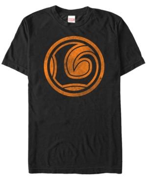 Marvel Men's Loki Distressed Orange Logo Short Sleeve T-Shirt