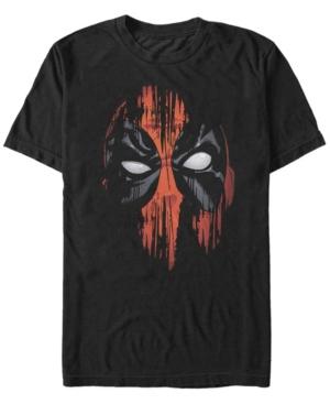 Marvel Men's Deadpool Painted Big Face Short Sleeve T-Shirt