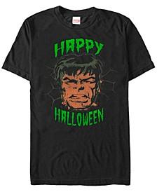 Marvel Men's Hulk Big Face Happy Halloween Short Sleeve T-Shirt