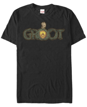Marvel Men's Guardians of the Galaxy Baby Groot Shield Short Sleeve T-Shirt