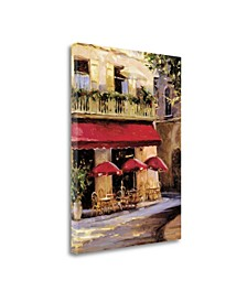 """Three Red Umbrellas by Keith Wicks Fine Art Giclee Print on Gallery Wrap Canvas, 28"""" x 38"""""""