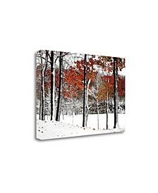 "Snowfall by Burney Lieberman Fine Art Giclee Print on Gallery Wrap Canvas, 24"" x 16"""