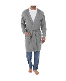 Men's Hooded French Terry Knit Robe