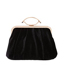 Matte Velvet Pleated Pouch Clutch