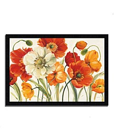 """Poppies Melody I by Lisa Audit Framed Painting Print, 33"""" x 23"""""""