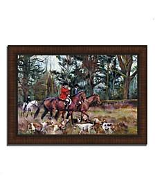 "Foxhunt by Marilyn Hageman Framed Painting Print, 36"" x 26"""