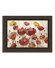 "Poppies in the Rain by Silvia Vassileva Framed Painting Print, 38"" x 28"""