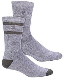 Men's 2-Pk. Marled Striped Boot Socks