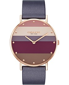 Women's Perry Purple Leather Strap Watch 36mm