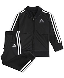 Baby Boys 2-Pc. Three-Stripe Jacket & Pants Set