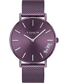 Women's Perry Purple Ion-Plated Mesh Bracelet Watch 36mm