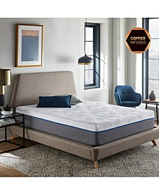 "Renue 12"" Copper & Gel Infused Memory Foam Mattress- Twin"