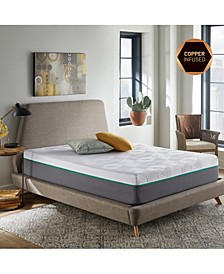 "Renue 12"" Copper & Gel Infused Memory Foam Hybrid Mattress- Full"