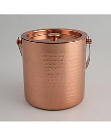 2 Quart Hammered Copper Ice Bucket