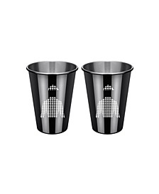 Black Jockey Shirt Cups - Set of 2