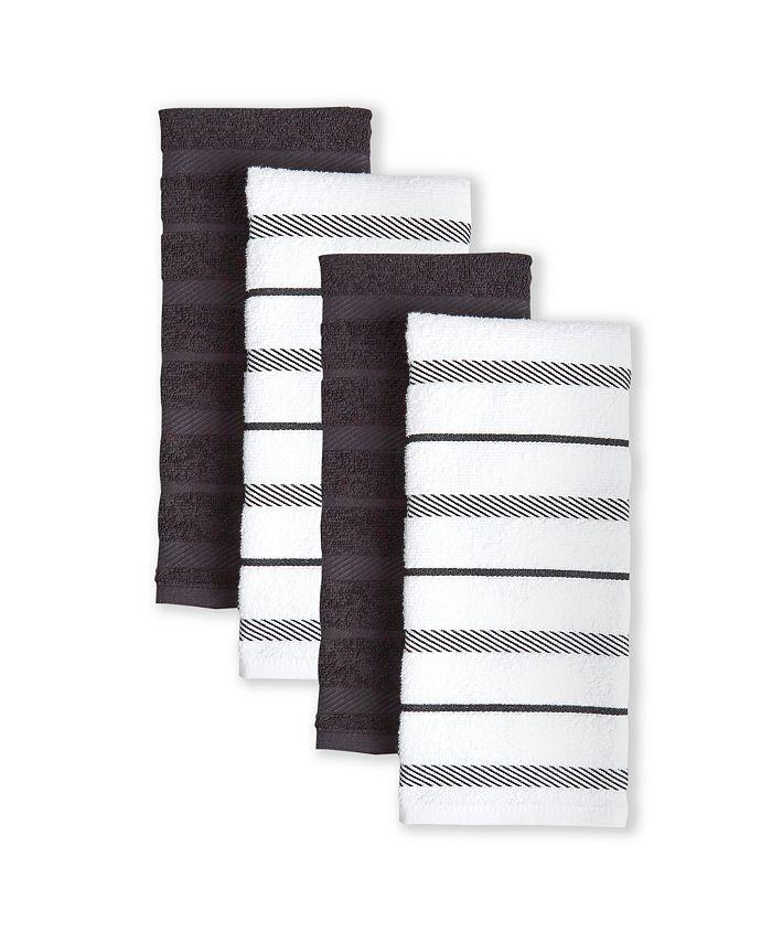 KitchenAid - Albany Kitchen Towel Set, Cornflower, Set of 4