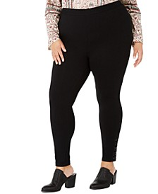 Plus Size Lace-Up Leggings, Created for Macy's