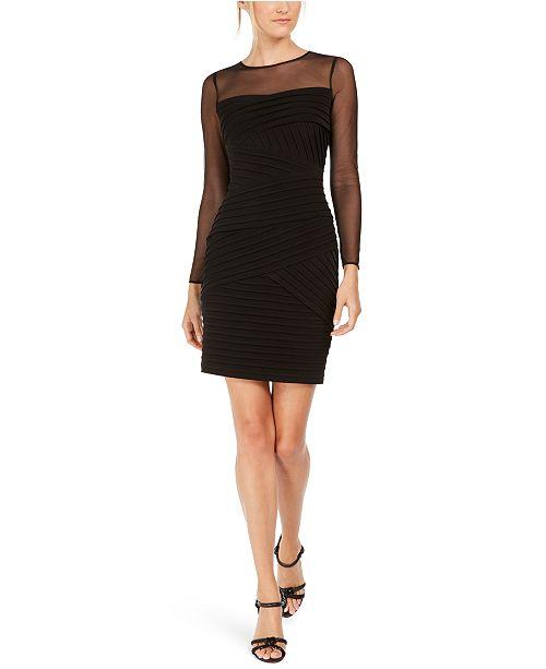 Calvin Klein Petite Illusion-Detail Bodycon Dress