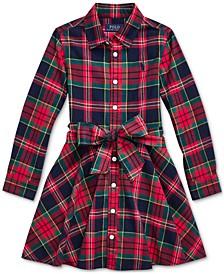 Little Girl's Plaid Cotton Shirtdress