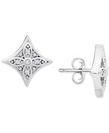 Diamond Star Stud Earrings (1/10 ct. t.w.) in Sterling Silver