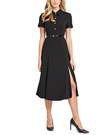 Button-Front Shirtdress