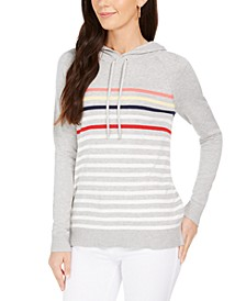 Striped Hooded Sweater, Created for Macy's